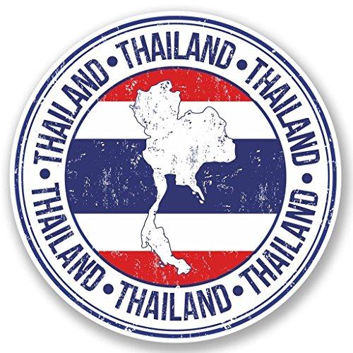 Preisvergleich Produktbild 2x Thailand Vinyl Aufkleber Aufkleber Laptop Reise Gepäck Auto Ipad Schild Fun # 5165 - 10cm/100mm Wide