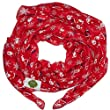New with Tags Christmas Santa Claus Print Scarves Women Scarf (Silver grey)