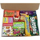 Heavenly Sweets - Mini Cesta Chocolate Americano Bala/Chocolate/Gominola Navidad/Regalo Cumpleaños - En Una Caja De Cartón Blanco