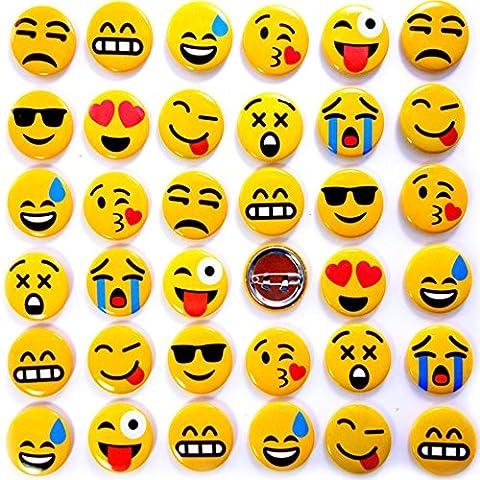 German Trendseller® - emoji pin┃bouton┃émoticôn┃l