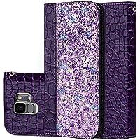 Galaxy S9 Hülle, Premium Leder Handyhülle Flip Schutzhülle für Samsung Galaxy S9 Tasche (Lila) preisvergleich bei billige-tabletten.eu