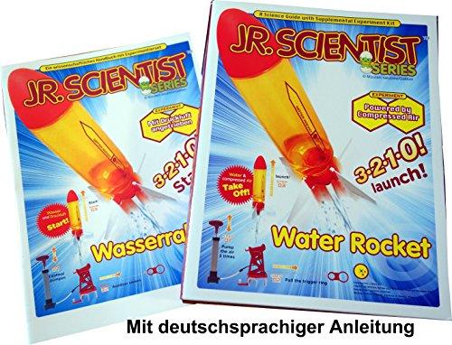 Wasserrakete Water Rocket Bausatz mit Lehrbuch in deutscher und englischer Sprache