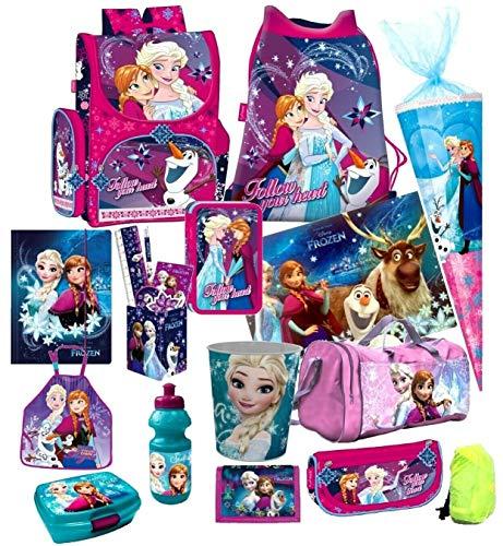 Disney Frozen EISKÖNIGIN 20 TLG. Set Schulranzen RANZEN SCHULTÜTE -