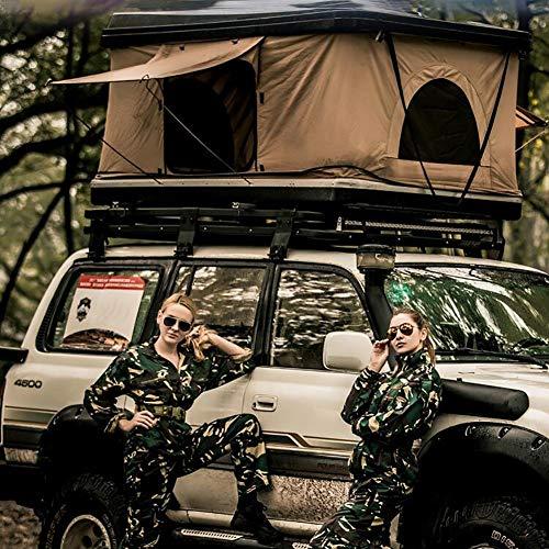 Qiulv Auto Dach Zelt Dach Oben Zelte Camping Schwer Zelte Mobiles Bett Wasserdicht, UV-Schutz Sun Wasserdicht belüftet haltbar Tragbare Cabana (Nicht beinhaltet Auto)