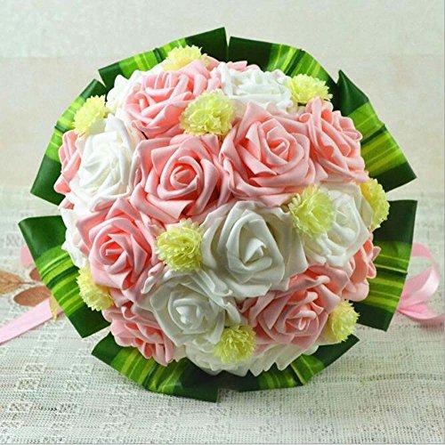 Bouquet de mariée vert blanc fleurs artificielles de mariage fournitures de mariage cadeau
