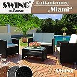 Swing & Harmonie Rattan Lounge Sitzgruppe für 4 Personen Sitzgarnitur Gartenmöbel Polyrattan Sofa