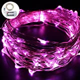 USB String Lights, Umiwe 33ft 100 LED Fairy Light Waterproof Starry Light with Remote Control and Timing Function for Christmas Birthday Wedding Party Patio Celebration and Decoration (Purple)