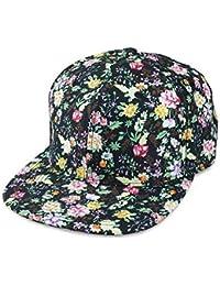 Sense42 Snapback | im Floral All-Over-Print Design | Flat Cap Bill | Unisex | Hip Hop Kappe | Schirmmütze | Blumen | One Size | in verschiedenen Farben