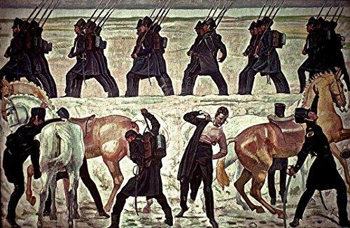 Der Museum Outlet-Jena Studenten Scheiden für die Krieg der Befreiung (1813), 1908-09-A3Poster -