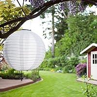 farolillos solares LED, nivel de impermeabilidad: IP55, perfectos para decorar el jardín, la terraza, el patio o el árbol de Navidad; de nailon/seda, color amarillo