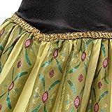 Tiaobug Eiskönigin Prinzessin Kostüm Mädchen Kleid Kinder Verkleidung Karneval Party Cosplay Grün+Schwarz 122-128 (Herstellergröße:140) Test