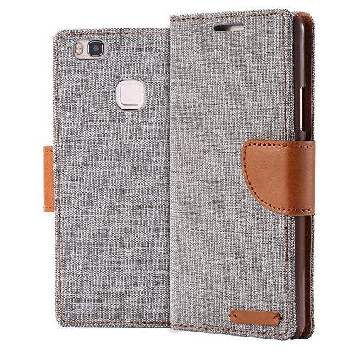 ECENCE Handyhülle Schutzhülle Case Cover kompatibel für Huawei Y625 Handytasche Grau 11030109