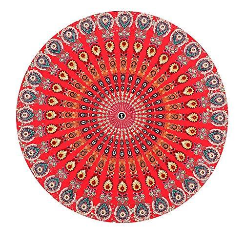 Kaxima Tapis national de pique-nique tapis serviette circulaire plage châle solaire plage fleur vent 150x150cm coussin de plage