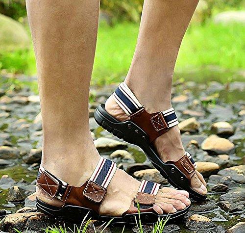 2017 nuovi sandali di cuoio e ciabatte sandali di cuoio traspirante uomini sandali estivi 2