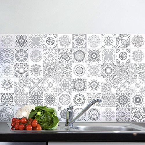 Ambiance-Live 60pegatinas adhesivas para azulejos | Sticker autoadhesivo para azulejos - Mosaico...