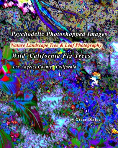 Psychodelic Photoshopped Images Nature Landscape Tree & Leaf Photography: Wild California Fig Trees Los Angeles County, California -
