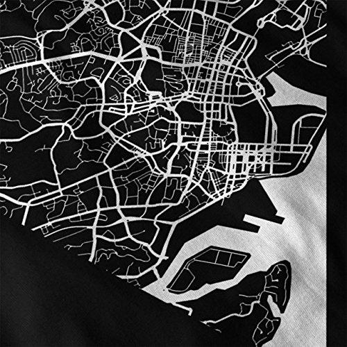 Singapur Stadt Mode Stadt Karte Damen Schwarz S-2XL Muskelshirt | Wellcoda Schwarz