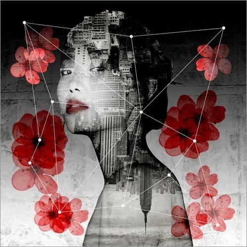 Posterlounge Acrylglasbild 30 x 30 cm: Orient von Rosa Picnic - Wandbild, Acryl Glasbild, Druck auf Acryl Glas Bild