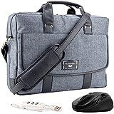 "VanGoddy Chrono Laptop Bag w/ Mouse and USB HUB for Acer TravelMate / Aspire / ChromeBook / Swift / Spin / V Nitro 14""-15.6inch"