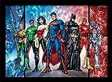 Pyramid International FP10894P-PL DC Comics (Justice League United) gerahmter Druck, 250 GSM Paperwrap MDF, Mehrfarbig, 44 x 33 x 4 cm