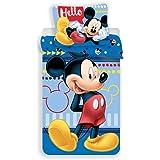 Jerry Fabrics Ropa de Cama paraNiñoscon Cremallera, Diseño Mickey and Friends, Algodón, Multicolor, 200x140x0.5 cm