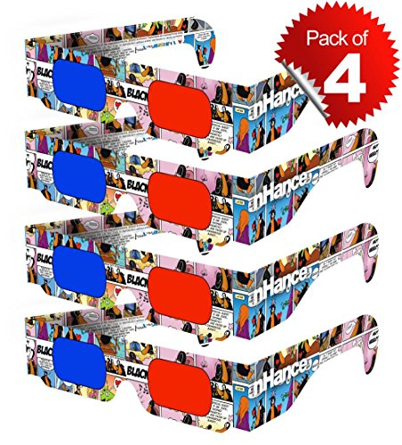 3D Glasses for Mobile Phone, Computer, Laptop, TV, Projector and Magazines for Anaglyph 3D Video Passive Cyan and Magenta Red & Blue Paper 3D Glasses (Pack of 4 pcs) DOMO RB2B nHance  available at amazon for Rs.129
