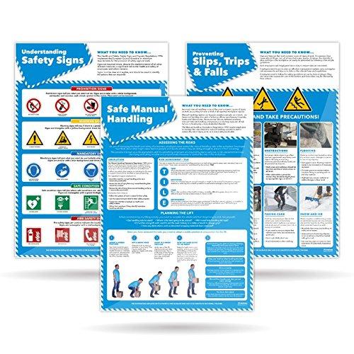 Set von 5Lager Sicherheit Poster | laminiert A1Lager Sicherheit Poster Sie sind 594mm × 841mm, aufmunternde die Gesundheit und Sicherheit der alle Mitarbeiter mit Farbe und Bilder, von daydream Bildung