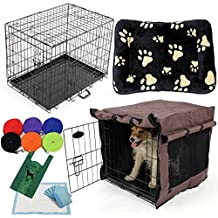 """Easipet Puppy Care Starter Kit with cage and bed (30"""" Medium Bed)"""
