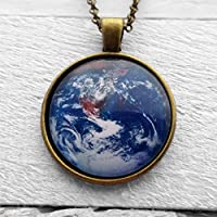 NASA Photograph Earth Wonder Ciondolo e Collana