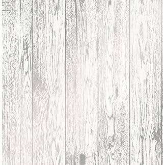 Fine Décor fd41957Loft madera papel pintado, color blanco