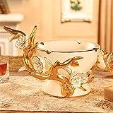 Cenicero de cerámica de Estilo Europeo Personalidad Creativa Salón Mesa...
