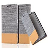 Cadorabo Book Case works with Sony Xperia Z5 in LIGHT GREY