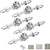 Btsky schuifladenknoppen met zilveren basisplaat - diamantgeslepen. Deurgrepen voor laden, kasten en andere meubels. Incl. sc