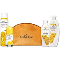 Enchanteur Charming Gift Bag with perfumed Body Lotion, Shower Gel, Deo Spray, Body Roll-on, 550ml