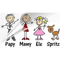 STICKEREDO Adesivo famiglia a bordo con nomi, family sticker, adesivo bimbo a bordo colorato. APPLICAZIONE ESTERNA