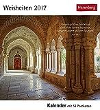 Postkartenkalender Weisheiten - Kalender 2017 - Harenberg-Verlag - mit 53 heraustrennbaren Postkarten - 16 cm x 17,5 cm