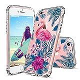 Coque iPhone 6S, Coque iPhone 6, MOSNOVO Tropical Flamant Fleur Clair Design Motif Transparente Arrière avec TPU Bumper Gel Coque de Protection Pour iPhone 6 / iPhone 6S (Tropical Flamingo)