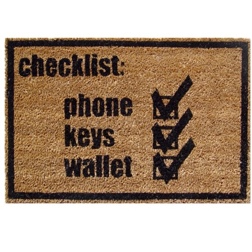 Checklist Door Mat, Coir and PVC 23.62