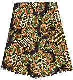 SUPREME WAX Holland ORIGINAL Stoff afrikanischen Bastrock bedruckt 6 Yards 100% Baumwolle Modell Java
