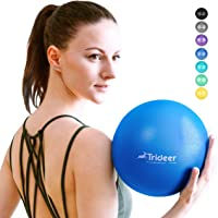 Trideer Soft Pilates Ball, Small Exercise Ball, 23/25cm Mini Gym Ball, Pilates, Yoga, Core Training and Physical Therapy…