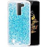 """LG K8 Coque, Coque LG K8, Protection LG K8, Nnopbeclik® Soft/Doux Silicone Transparente """"paillette brillant"""" Backcover Housse (5.0 Pouces) Antiglisse Anti-Scratch Etui - [Bleu]"""