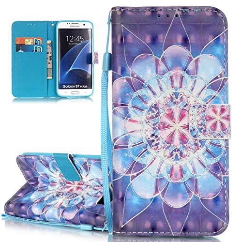Cover Galaxy S7 Edge ISAKEN Drawing Pattern Design Elegante borsa