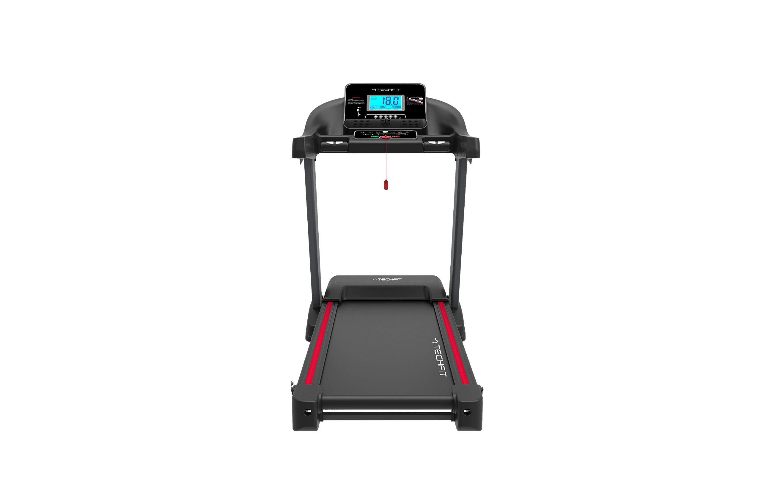 TechFit MT200 Tapis Roulant Professionale, Autolubrificazione, 5.0 HP, Fitness App, Bluetooth, Sistema di Piegatura… 2 spesavip