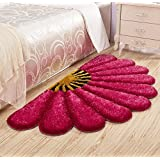 Home Castle Half Flower Shaped Shaggy Runners For Bedside,Living Room & Drawing Room.