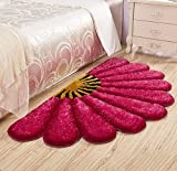 #3: Home Castle Half Flower Shaped Shaggy Runners For Bedside,Living Room & Drawing Room.