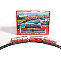 CRAMMYHOOD™ Indian Passenger Train with Coaches & Railway Track (Multicolor, 19 Pieces)