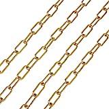 PandaHall Chaîne à maillons en acier inoxydable avec trombones ovales dorées de 7 mm de large pour femmes et filles