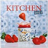 Grupo Erik CP21046 Calendario 2021 da Muro Kitchen, calendario cucina 2021 da muro, 16 mesi, 30x30 cm