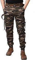 Verticals Army Print Side Dori Cargo(Joggers Style) _(Designe_40)