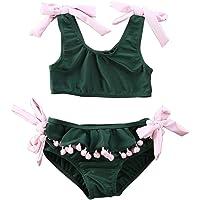 Loalirando Costumi da Bagno Bambina Estate Neonate Bikini Carino Costumi Mare Bimba Due Pezzi Costume da Bagno Verde Dei…